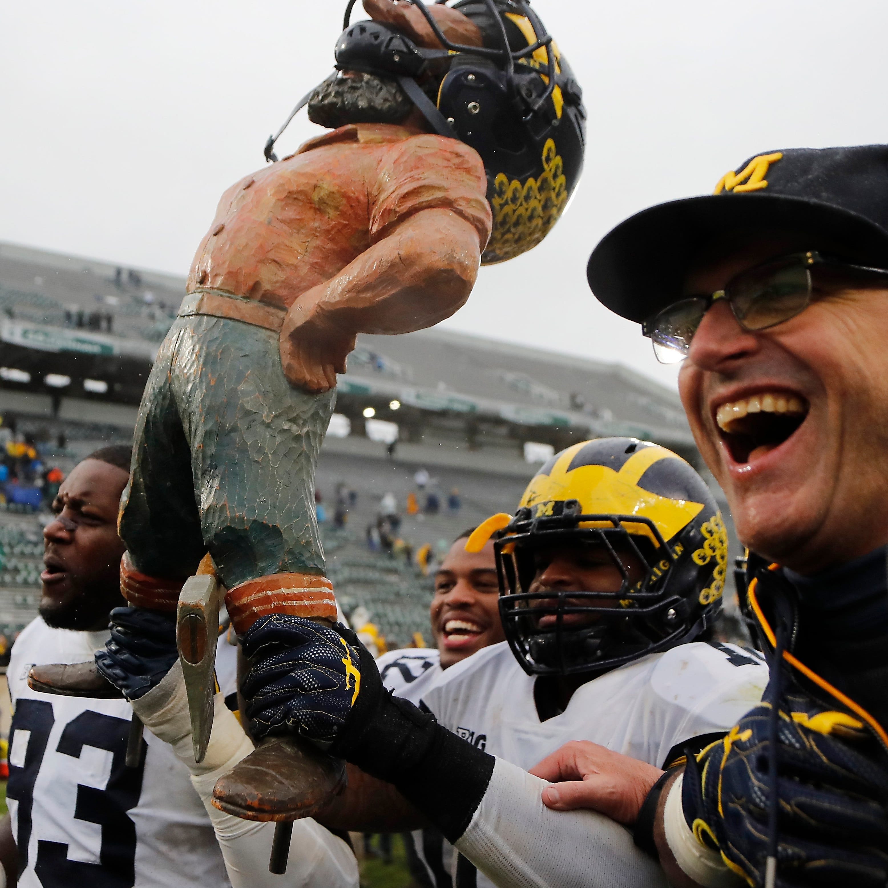 Michigan's Jim Harbaugh rips MSU again, doubles down on 'bush league'