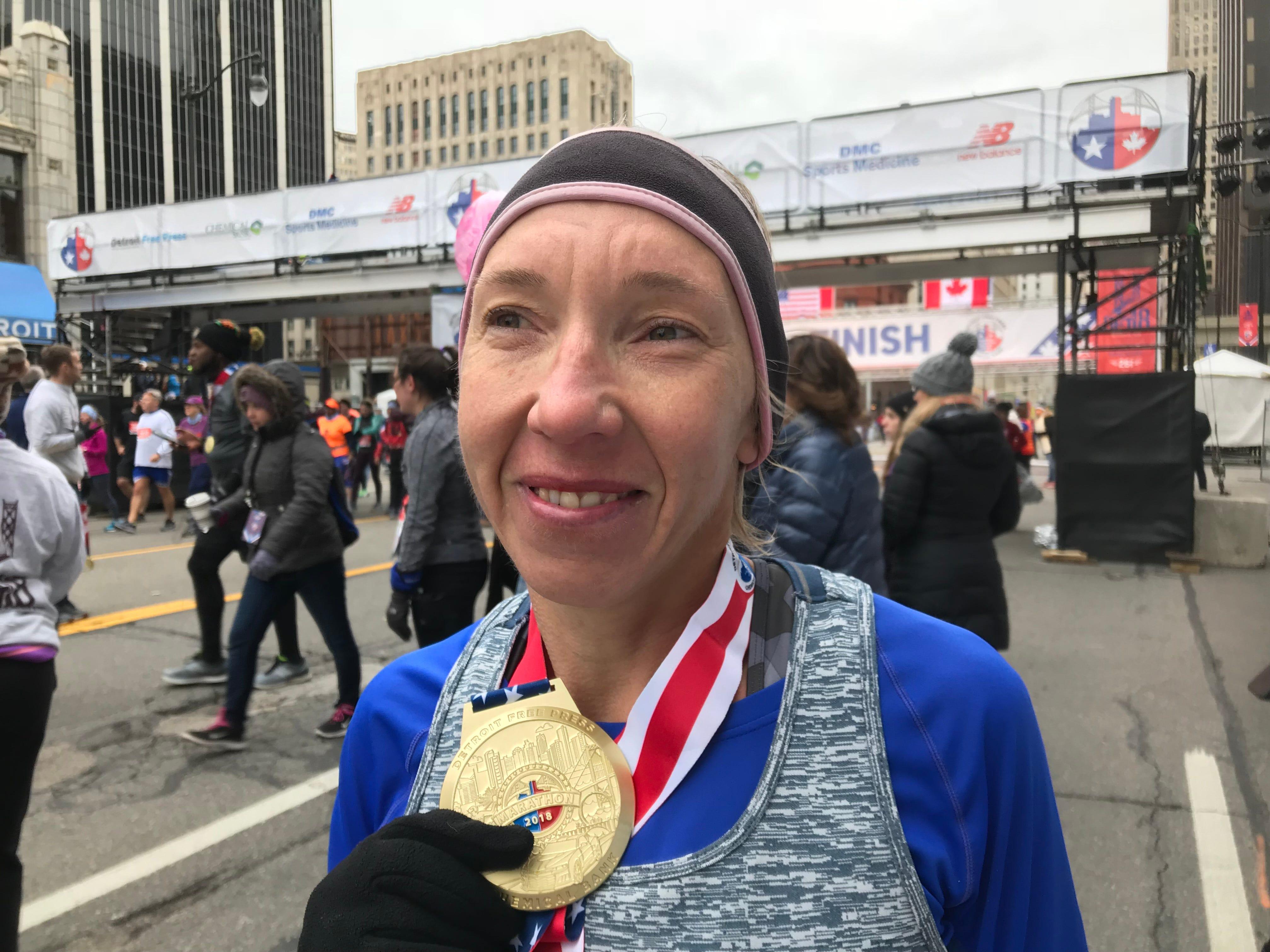 Detroit marathon: Lioudmila Kortchaguina wins women's full again