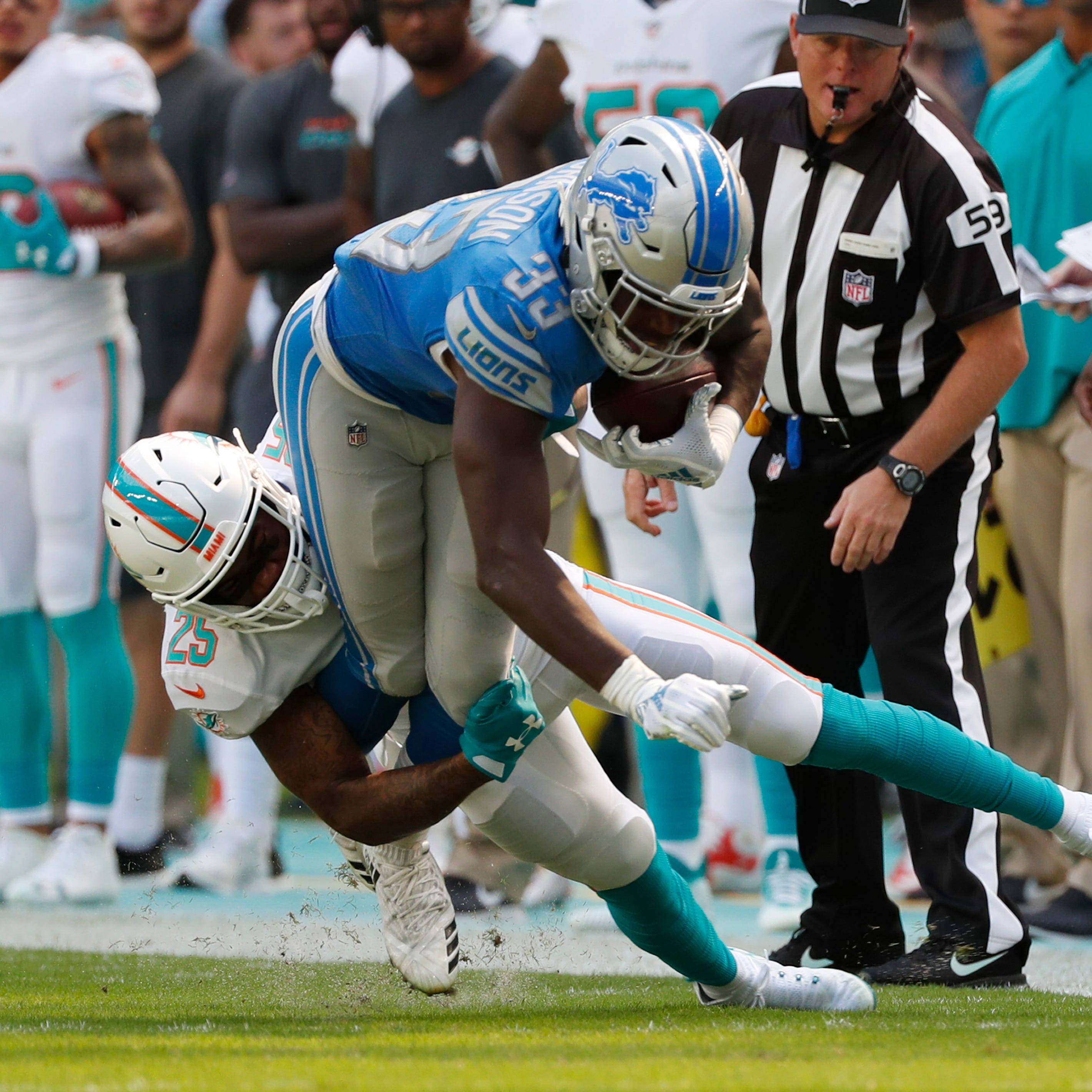 Kerryon Johnson sparks epic rushing day from Detroit Lions