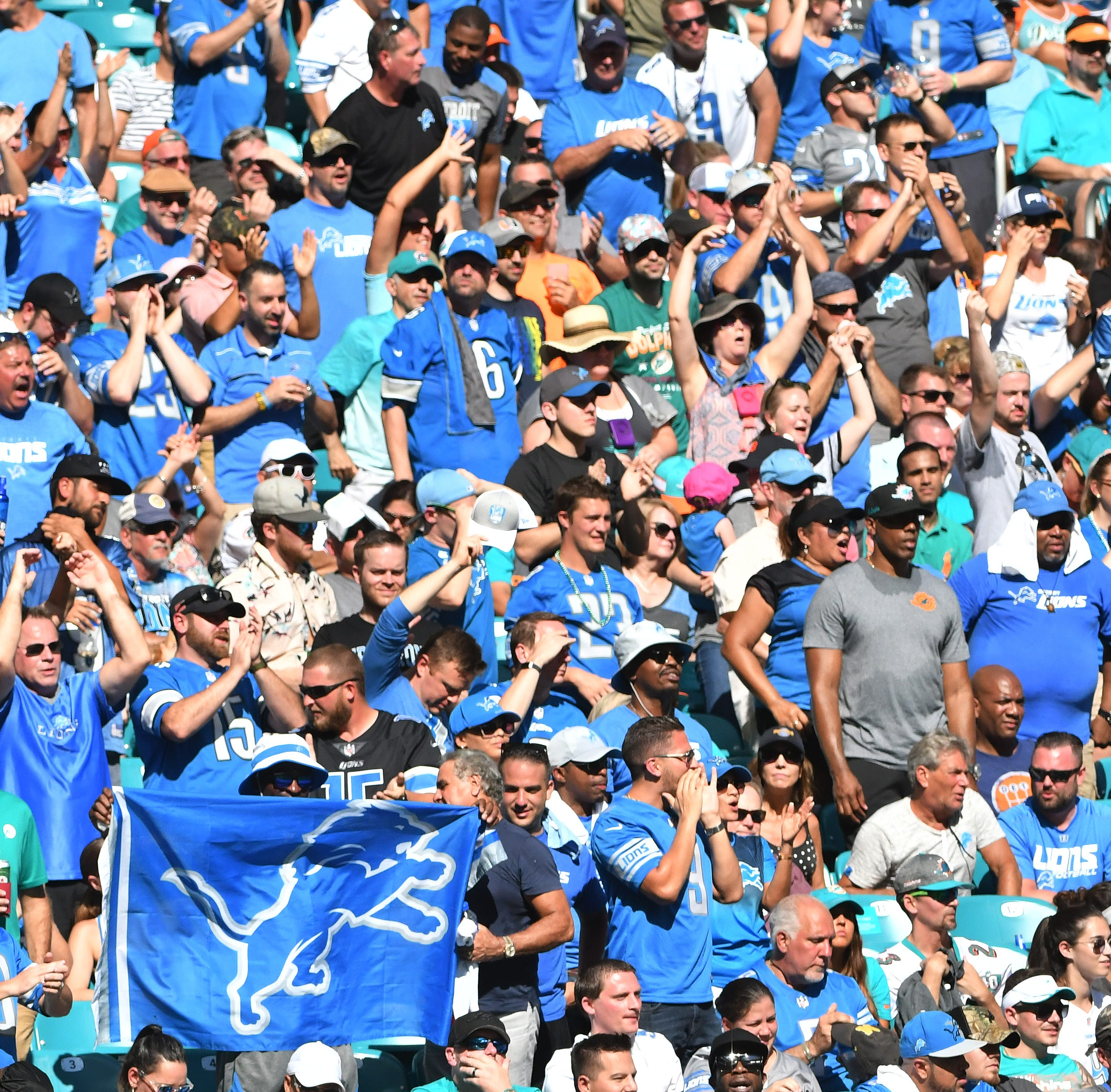 Lions feel love, 'energy' from true-blue fans in Miami