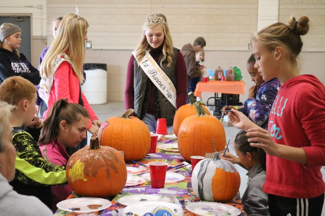 Sandusky County Junior Fair members led pumpkin painting and other activities at the first Fall Family Festival on Saturday.