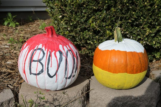 """Pumpkins came in all shades following the painting contest at the """"Fall Family Fest"""" this past weekend."""