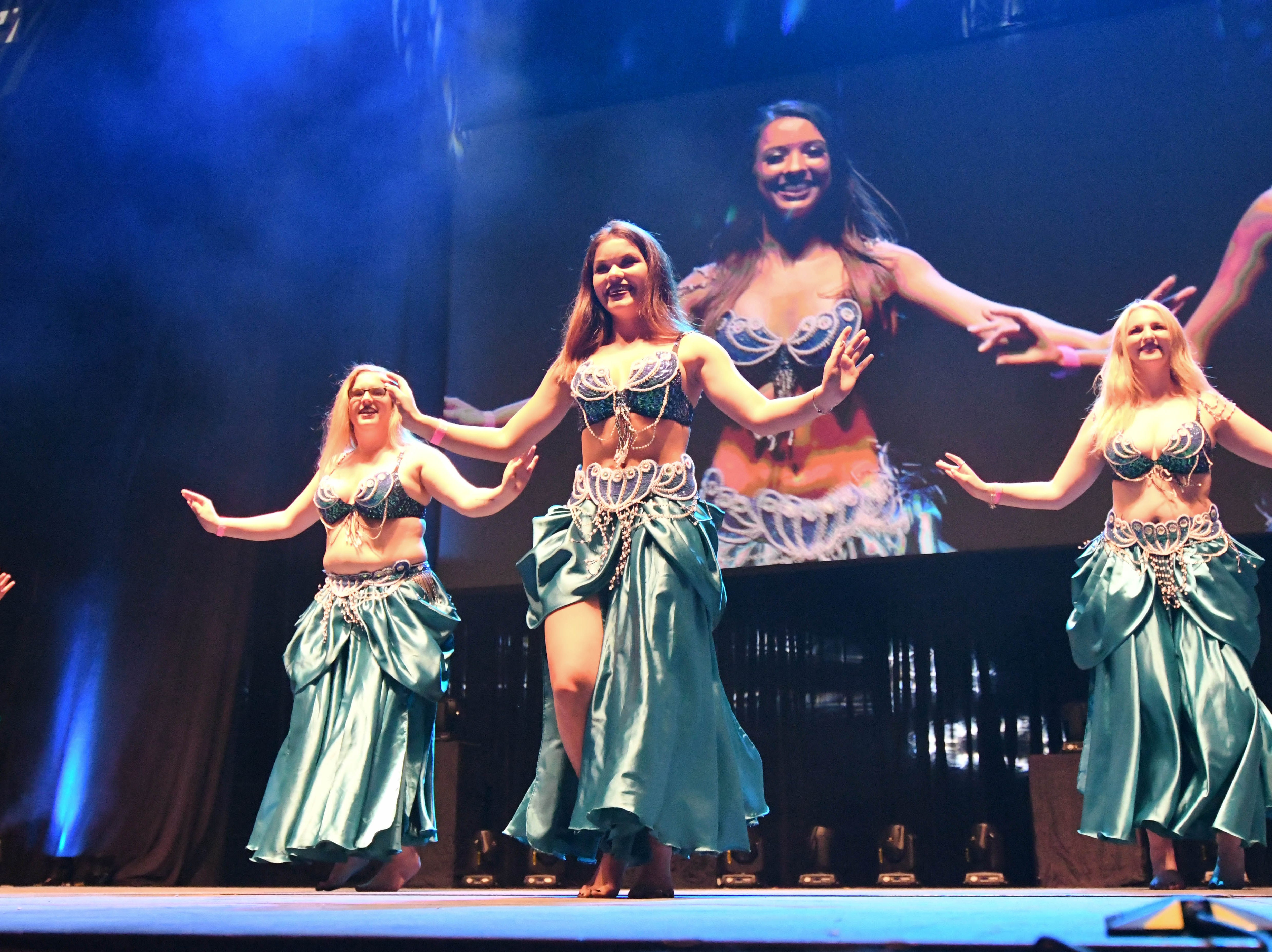 The Belly Dancers performing at PowWow at the Donald L. Tucker Civic Center on October 19, 2018