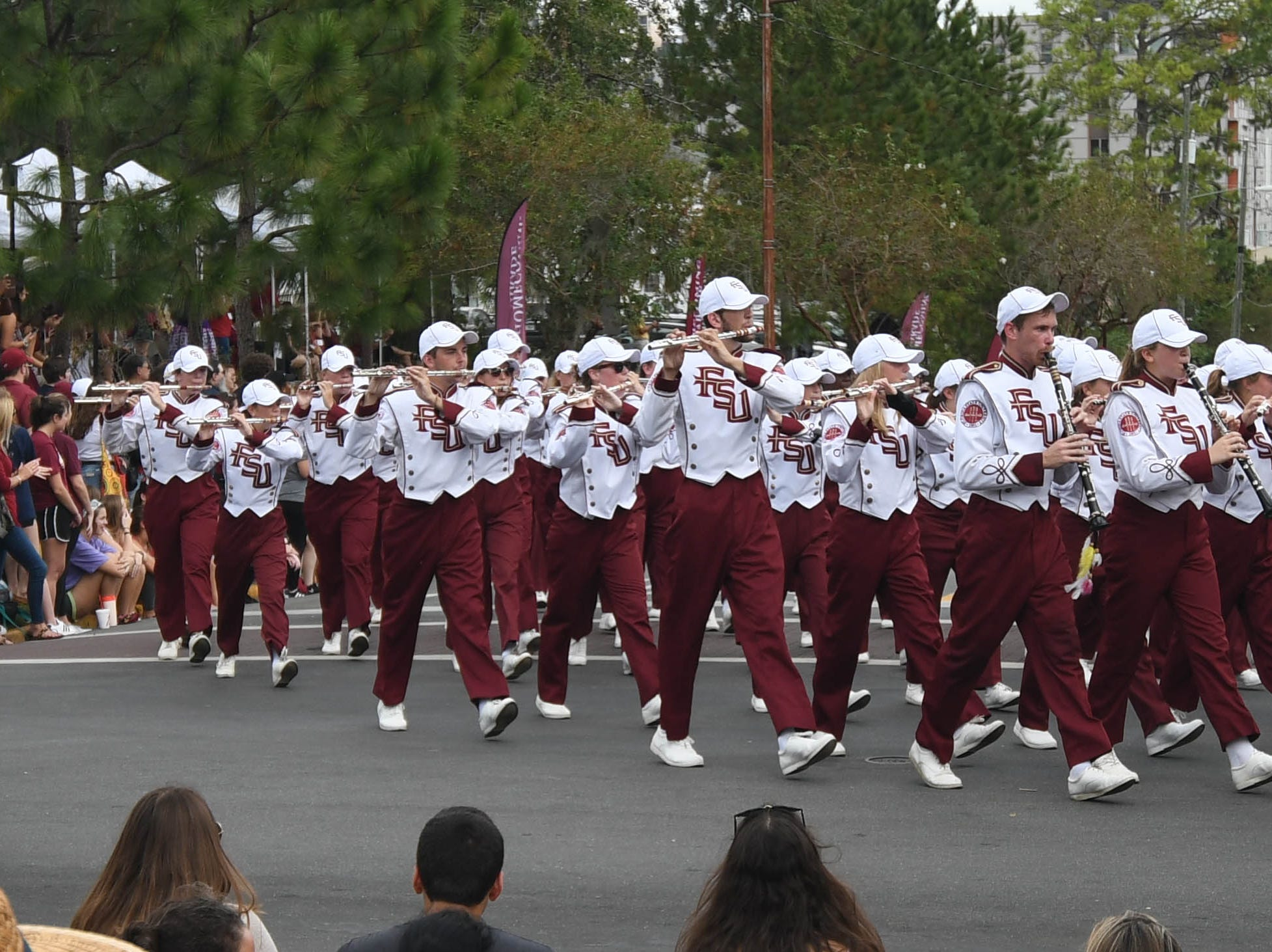 FSU's Marching Chiefs at the 2018 Homecoming Parade on October 19, 2018.