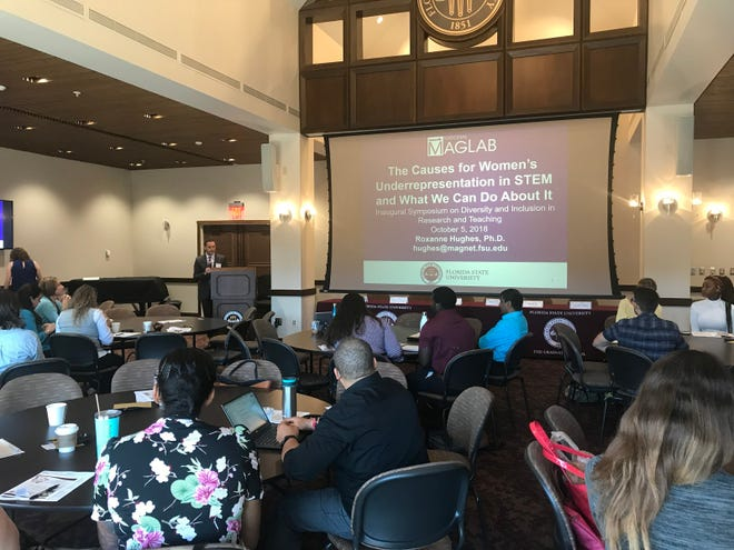 Students and faculty gathered at the Inaugural Diversity and Inclusion in Research and Teaching Symposium to discuss representation on campus.
