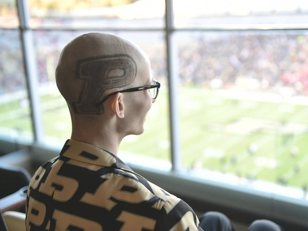 Purdue superfan Tyler Trent, who is battling bone cancer, plans to join in on 'Hawkeye Wave'