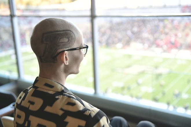 Tyler Trent made the trip to Ross-Ade Stadium to watch the Boilermakers take on Ohio State.