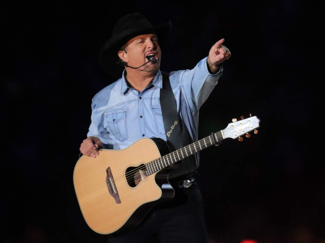 Garth Brooks performs Saturday at Notre Dame Stadium in South Bend.
