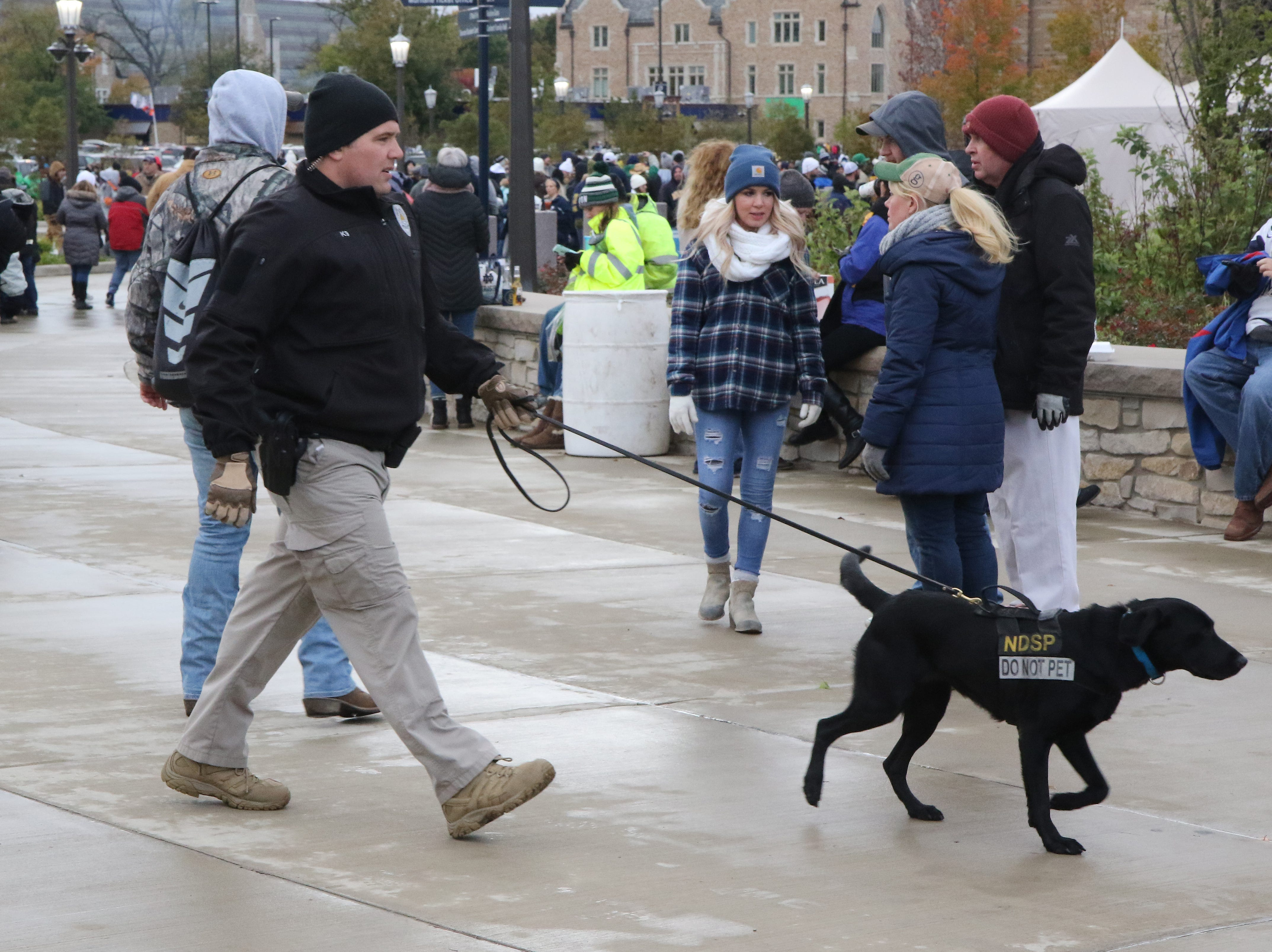 Security was tight at Notre Dame stadium for historic first-ever concert at Notre Dame Stadium in South Bend, Ind., on Saturday, Oct. 20, 2018.