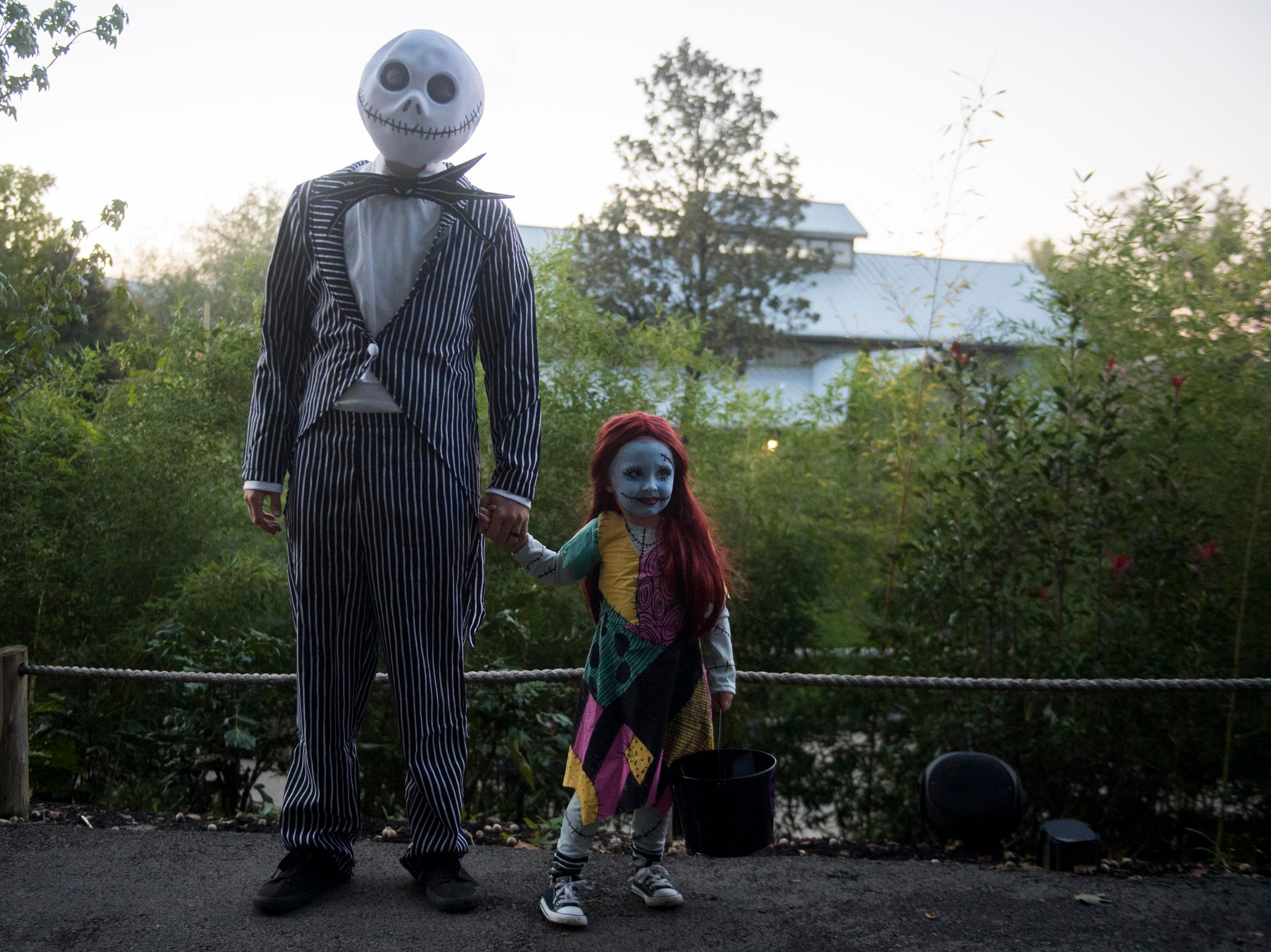Brandon and Harper Lay are Jack Skellington and Sally of The Nightmare before Christmas during Zoo Knoxville's Boo! at the Zoo on Saturday, October 20, 2018.