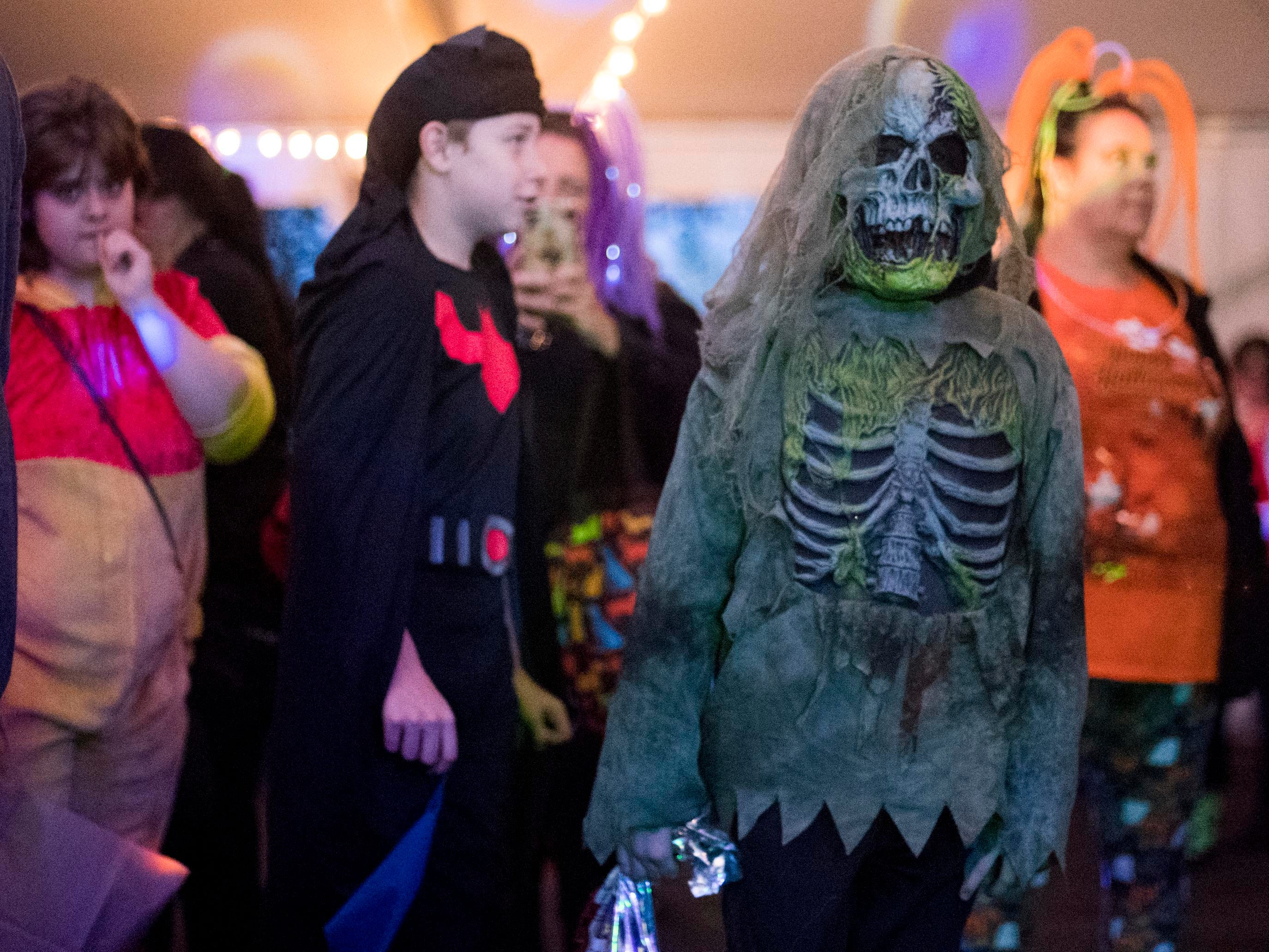 trick-or-treaters attend the Monster Mash dance party during Zoo Knoxville's Boo! at the Zoo on Saturday, October 20, 2018.