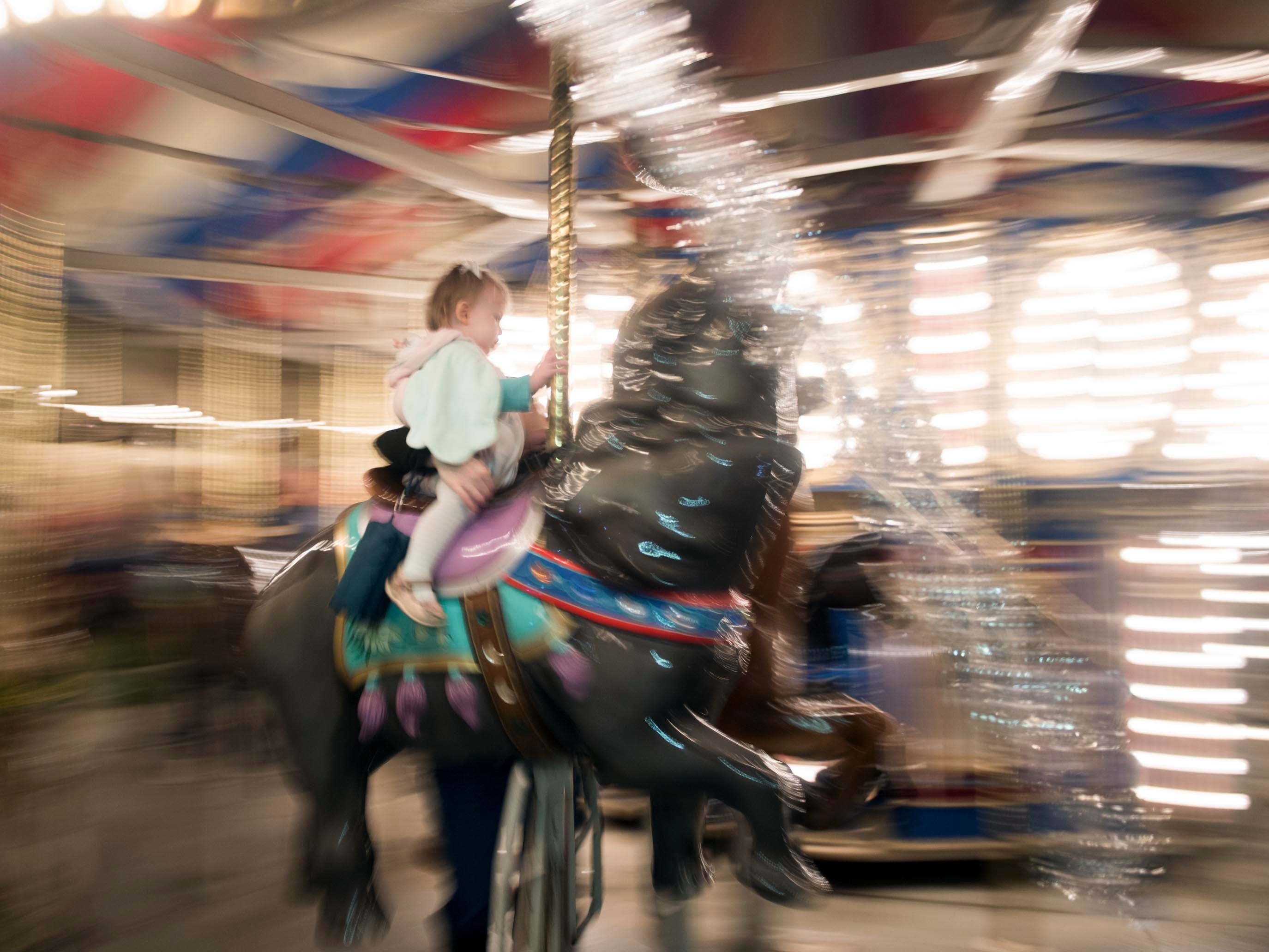 Zoo Knoxville's carousel during Boo! at the Zoo on Saturday, October 20, 2018.