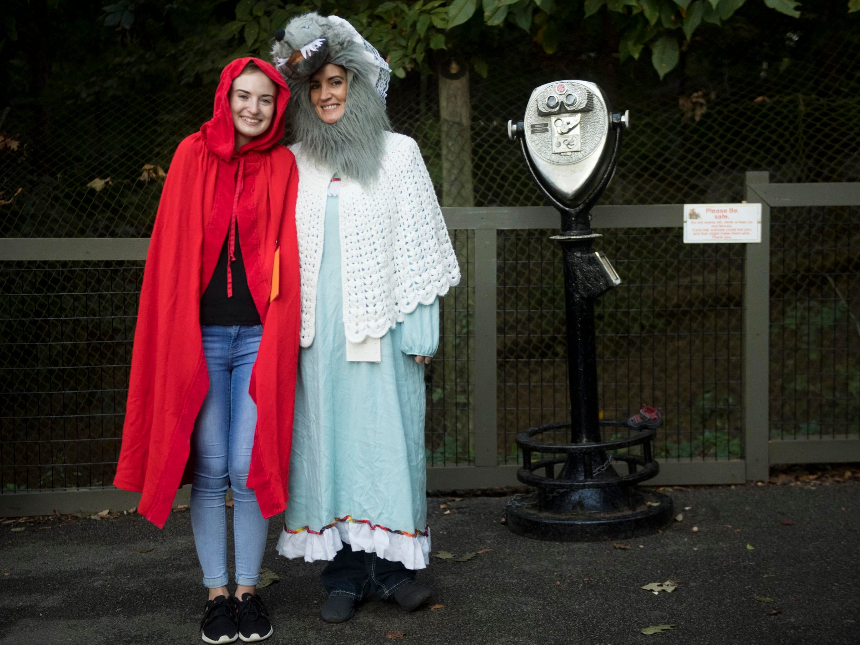 Volunteers Jamie Hodge and Shae Johnson during Zoo Knoxville's Boo! at the Zoo on Saturday, October 20, 2018.