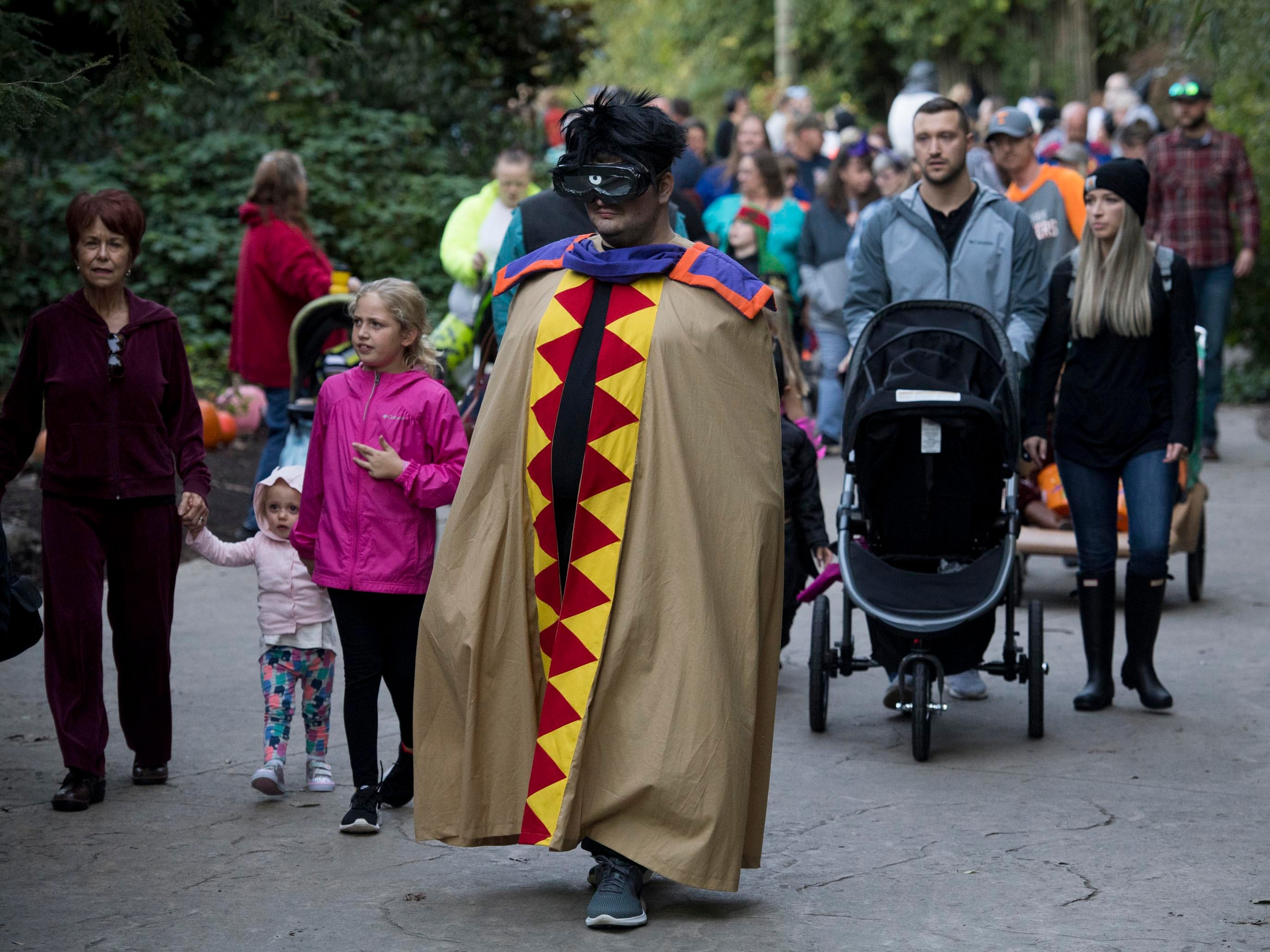 There were hundreds of families and thousands of costumes at Zoo Knoxville's Boo! at the Zoo on Saturday, October 20, 2018.