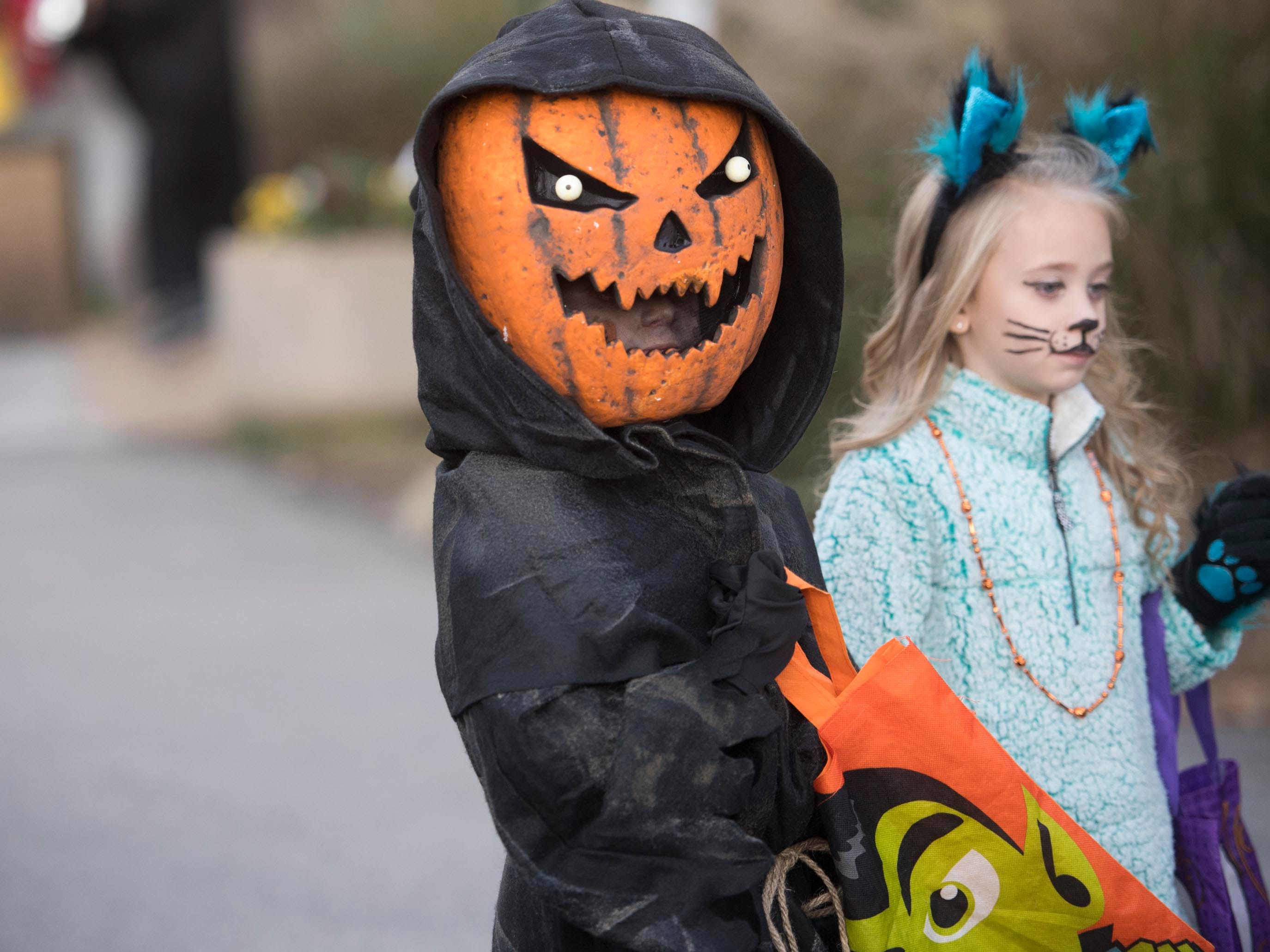 Costumed trick-or-treaters at Zoo Knoxville's Boo! at the Zoo on Saturday, October 20, 2018.