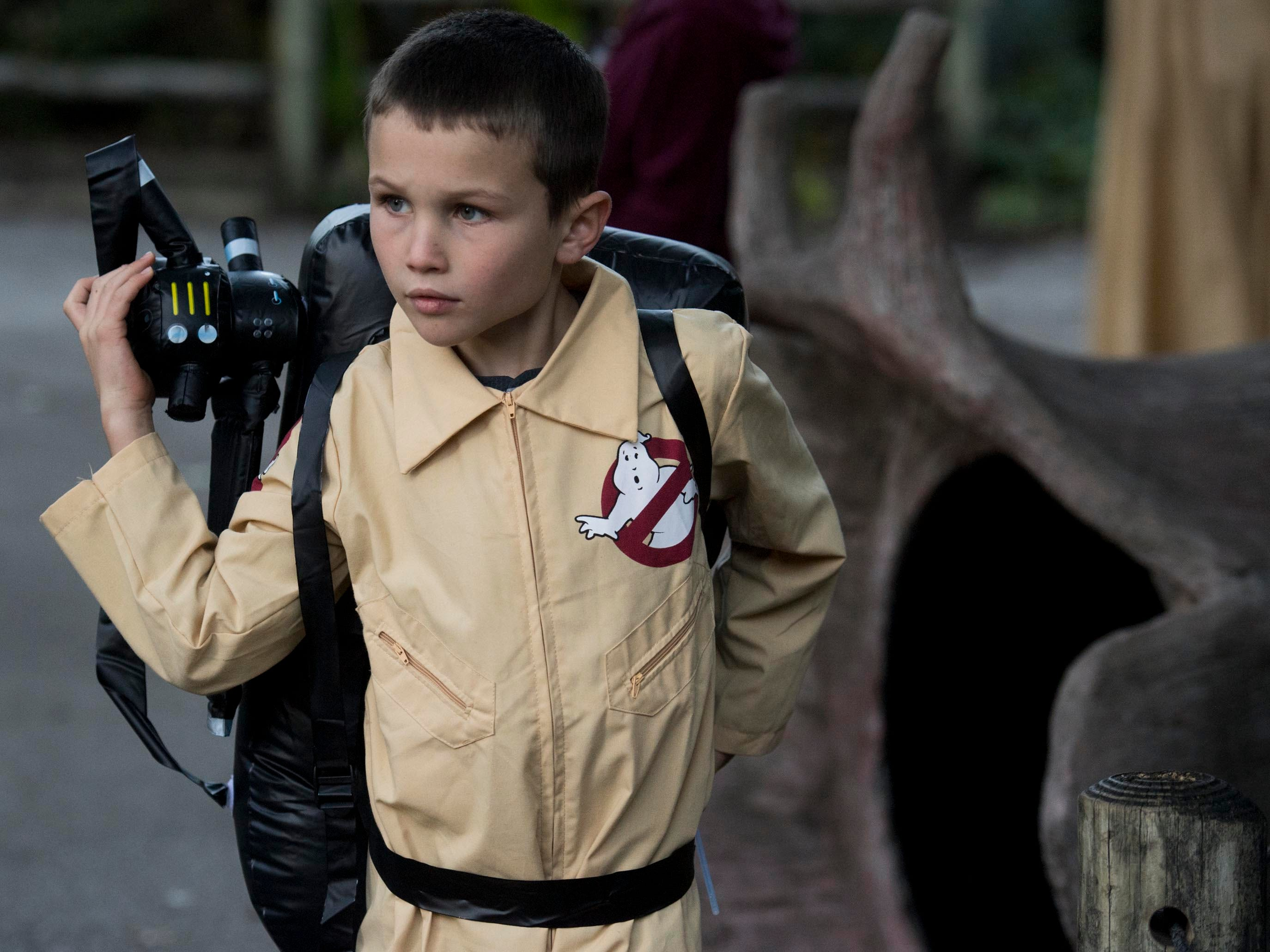 A young Ghostbuster at Zoo Knoxville's Boo! at the Zoo on Saturday, October 20, 2018.