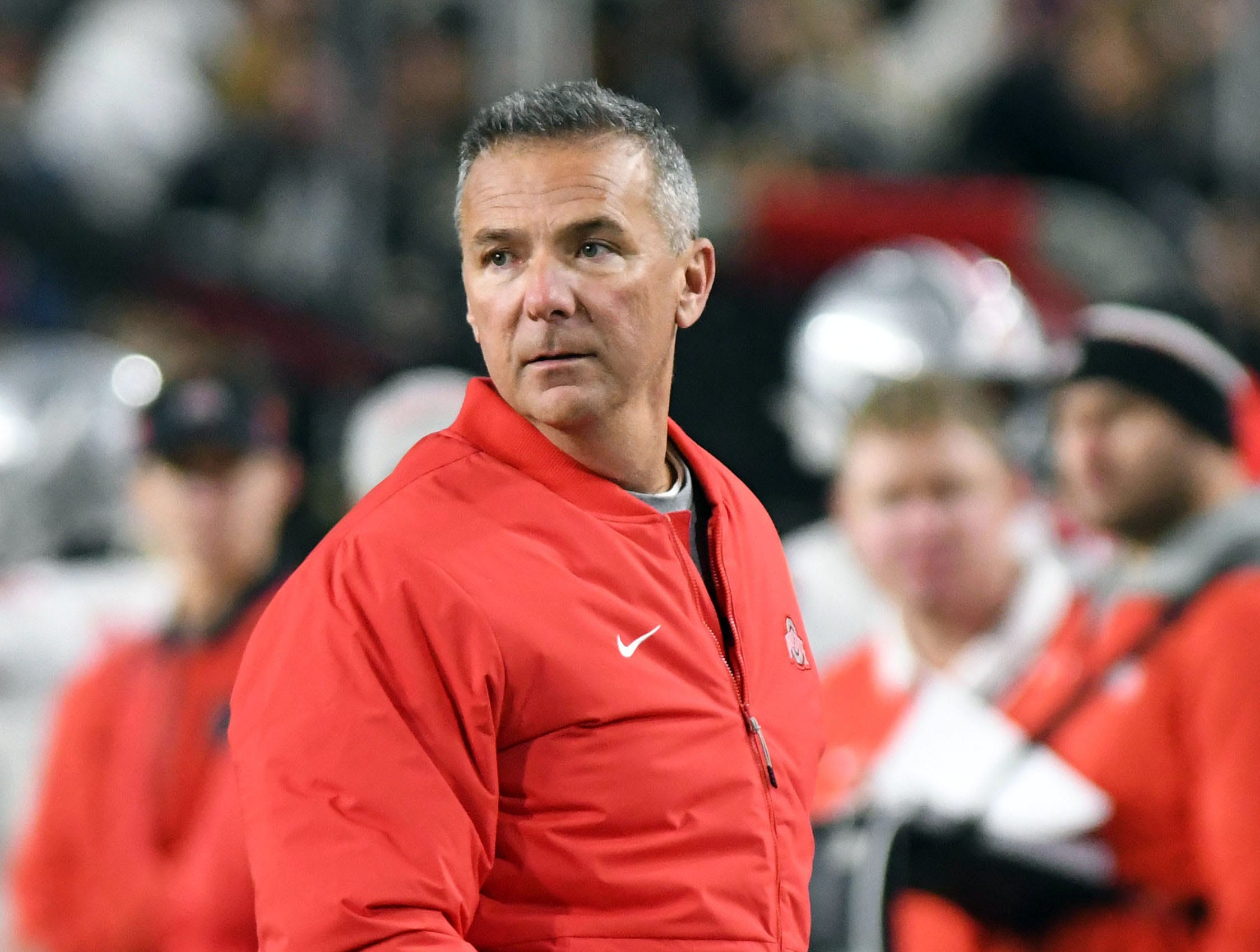 Oct 20, 2018; West Lafayette, IN, USA; Ohio State head coach Urban Meyer during the first half against the Purdue Boilermakers at Ross-Ade Stadium. Mandatory Credit: Thomas J. Russo-USA TODAY Sports