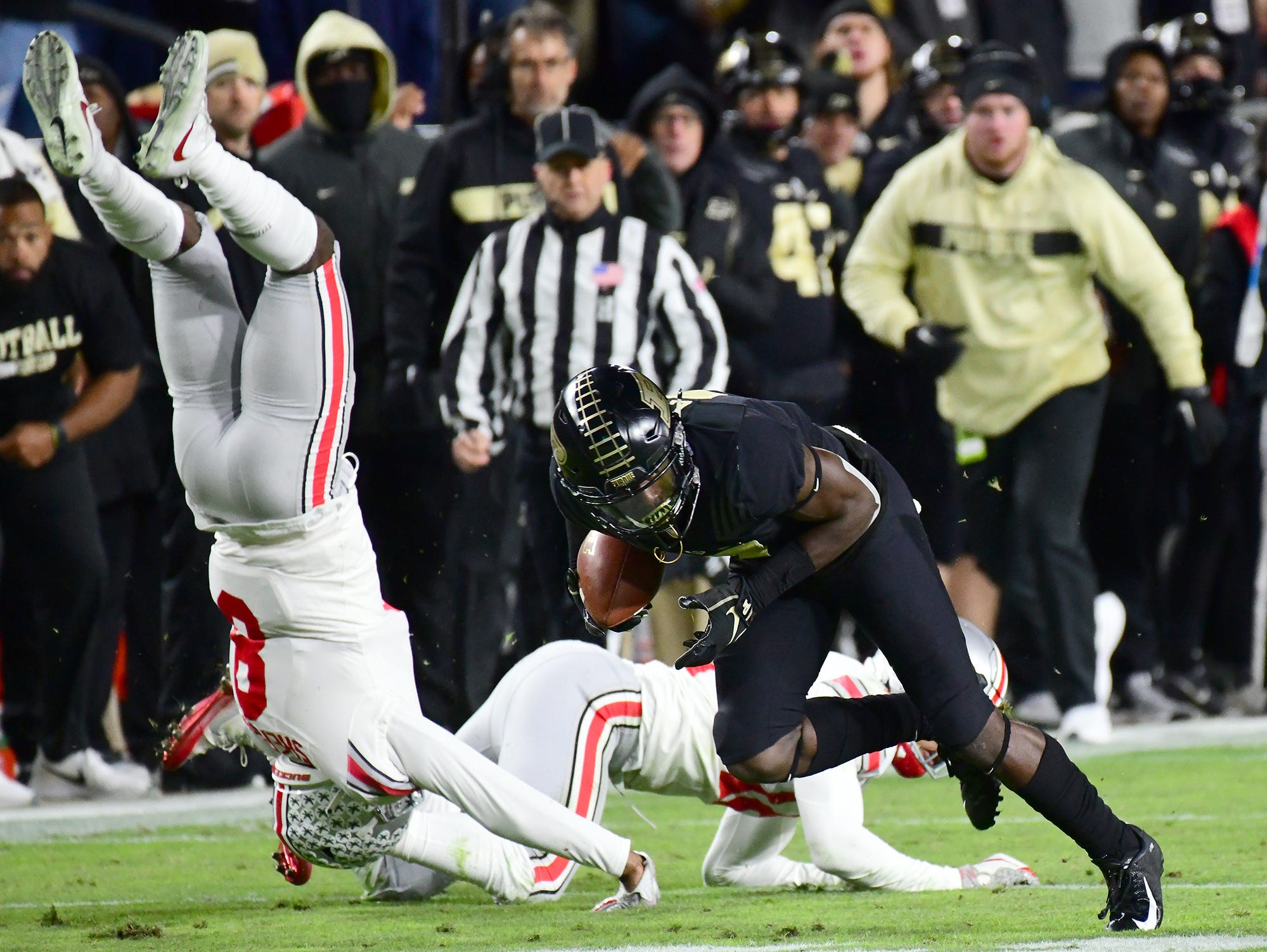 Purdue's Isaac Zico as Purdue upsets Ohio State in West Lafayette on Saturday October 20, 2018.