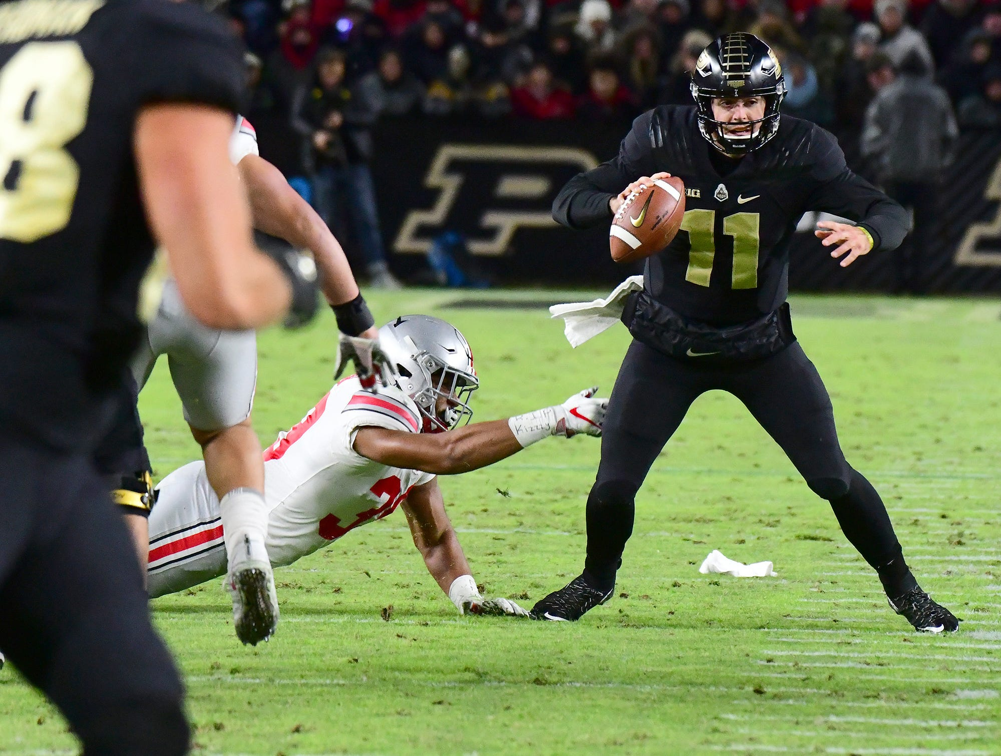 Purdue's David Blough as Purdue upsets Ohio State in West Lafayette on Saturday October 20, 2018.