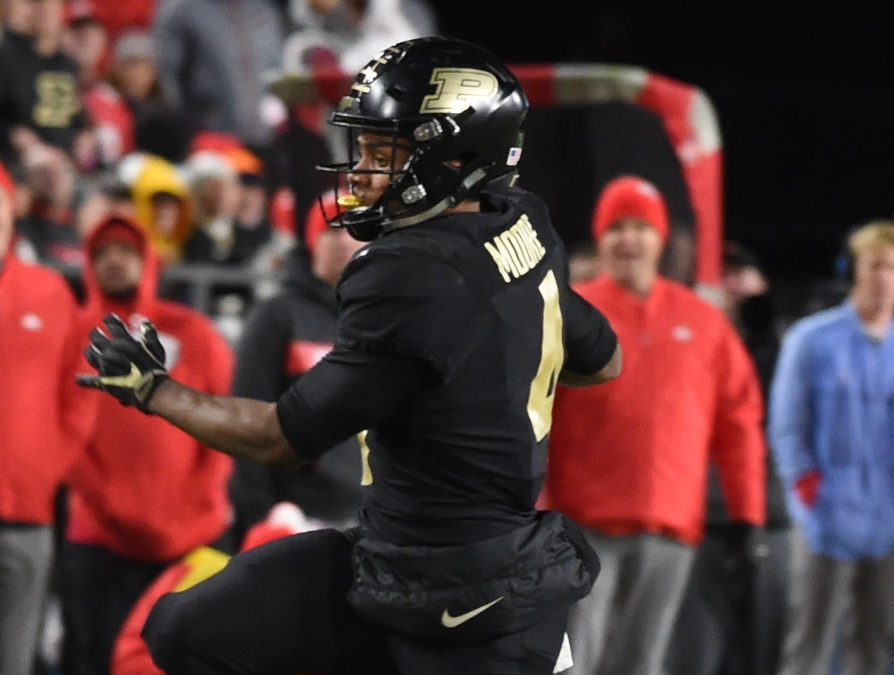The Boiler faithful braved the cold and wind Saturday to roast some Buckeyes in front of a packed house at Ross-Ade Stadium. Rondale Moore