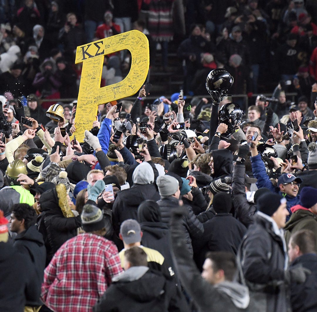 Purdue upsets Ohio State in West Lafayette on Saturday October 20, 2018.