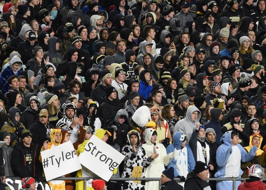 The Boiler faithful braved the cold and wind Saturday to roast some Buckeyes in front of a packed house at Ross-Ade Stadium.
