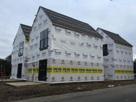 Houses under construction in Lafayette, LA