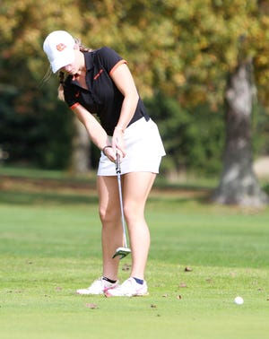Annie Pietila tied for 10th individually, leading Brighton to a fifth-place finish in the state golf tournament.