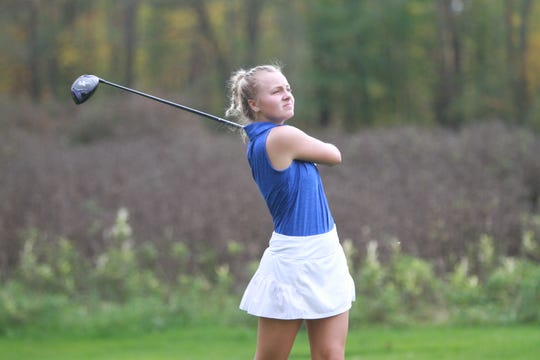 Sydney Bradford led Hartland to a school-best seventh-place finish in the state golf tournament.