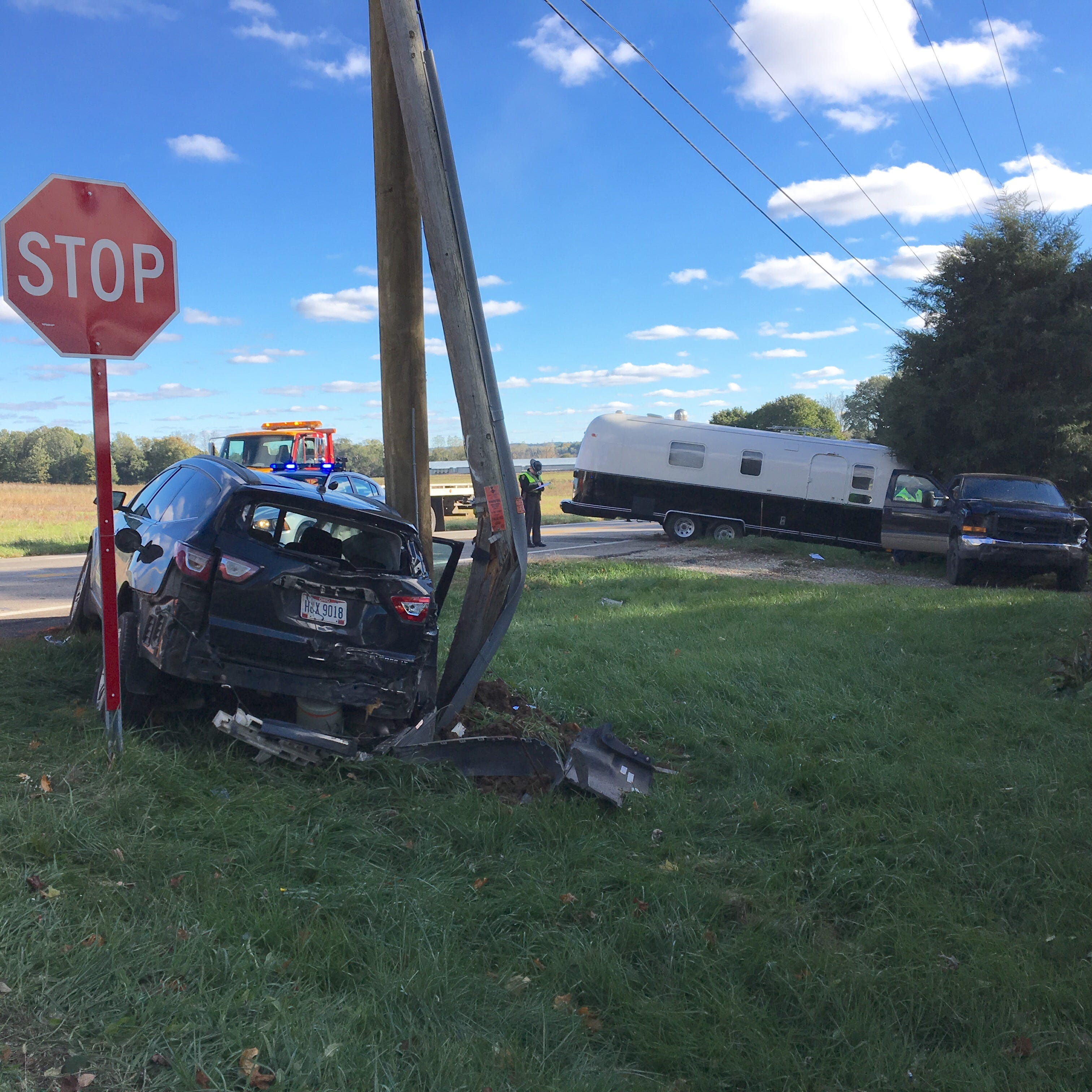 Five people, including four children, injured in Ohio 13 crash