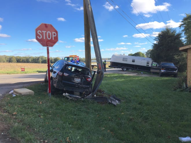 Five people, including four children, were injured in a crash at Ohio 13 and Chesrown Road on Sunday afternoon. The Ohio Highway Patrol said an SUV ran a stop sign. The injuries were all non-life-threatening, according to the patrol.