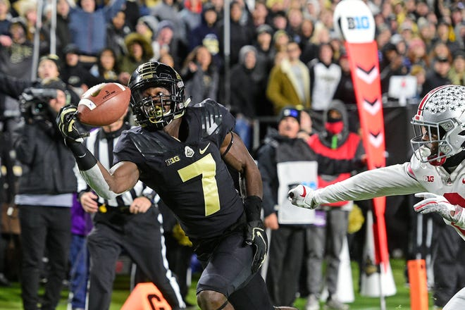 A one-handed catch by Purdue's Isaac Zico was a sign of terrible things to come for the Ohio State Buckeyes on Saturday night.