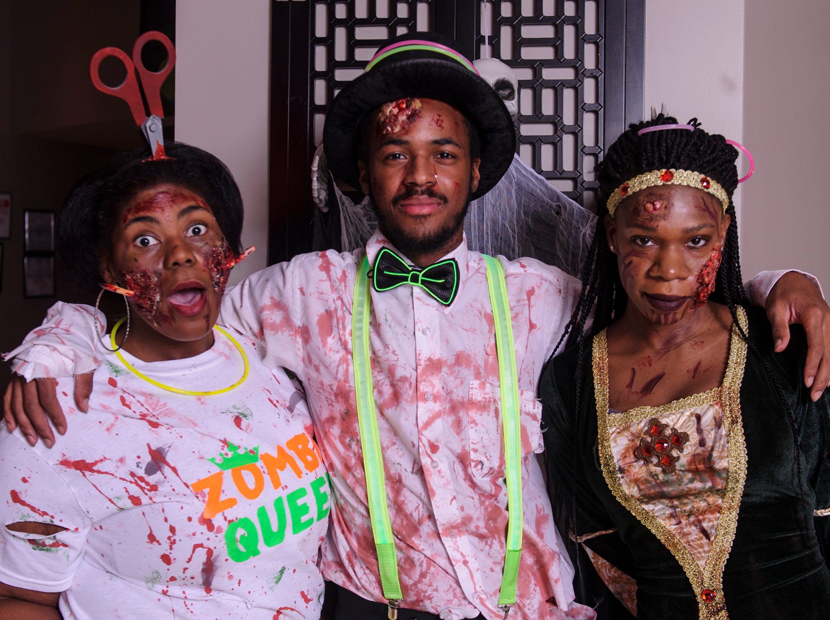 Domnique Morris, Lushawn Lyons, and Gyneva Benndan at the Zombie Prom on Saturday, Oct. 20, 2018.