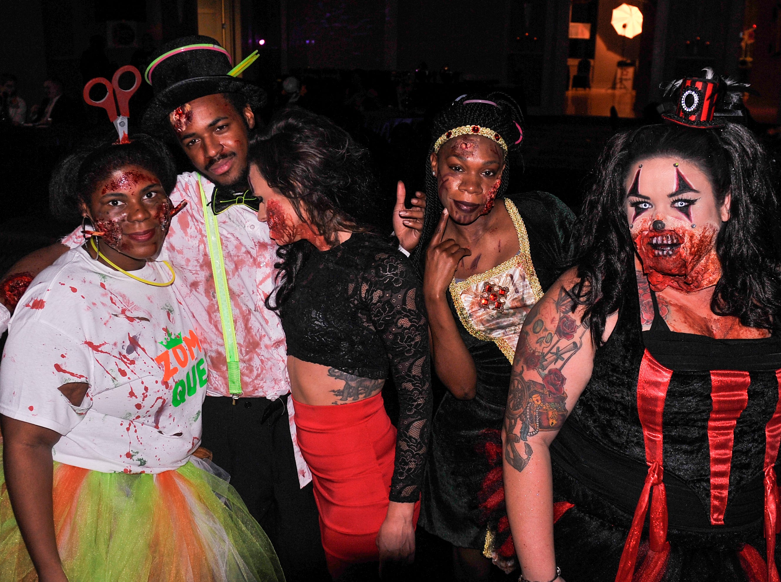 Dressed up a the Zombie Prom on Saturday, Oct. 20, 2018.