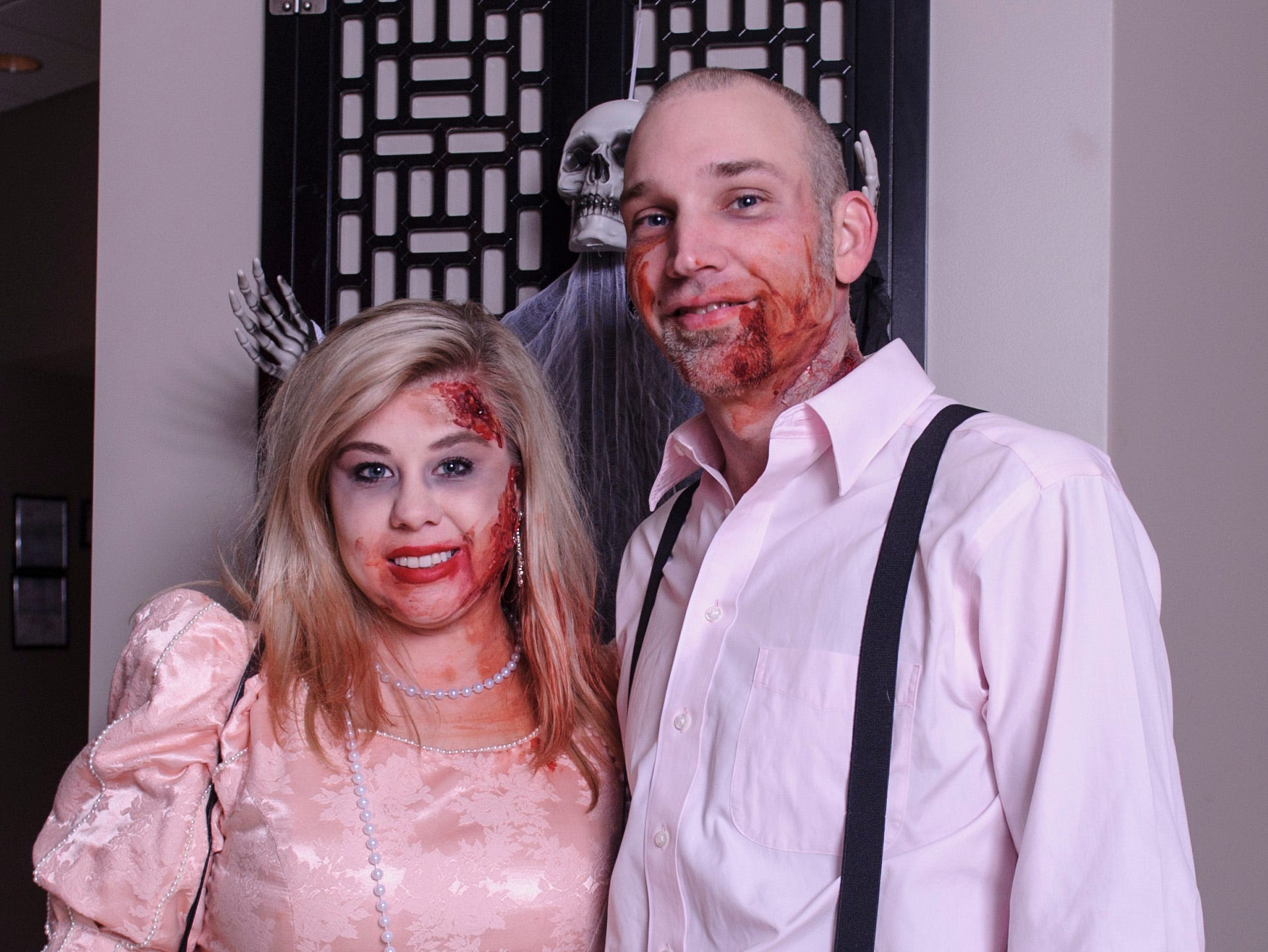 Brandy Sciara and Charlie Sciara at the Zombie Prom on Saturday, Oct. 20, 2018.