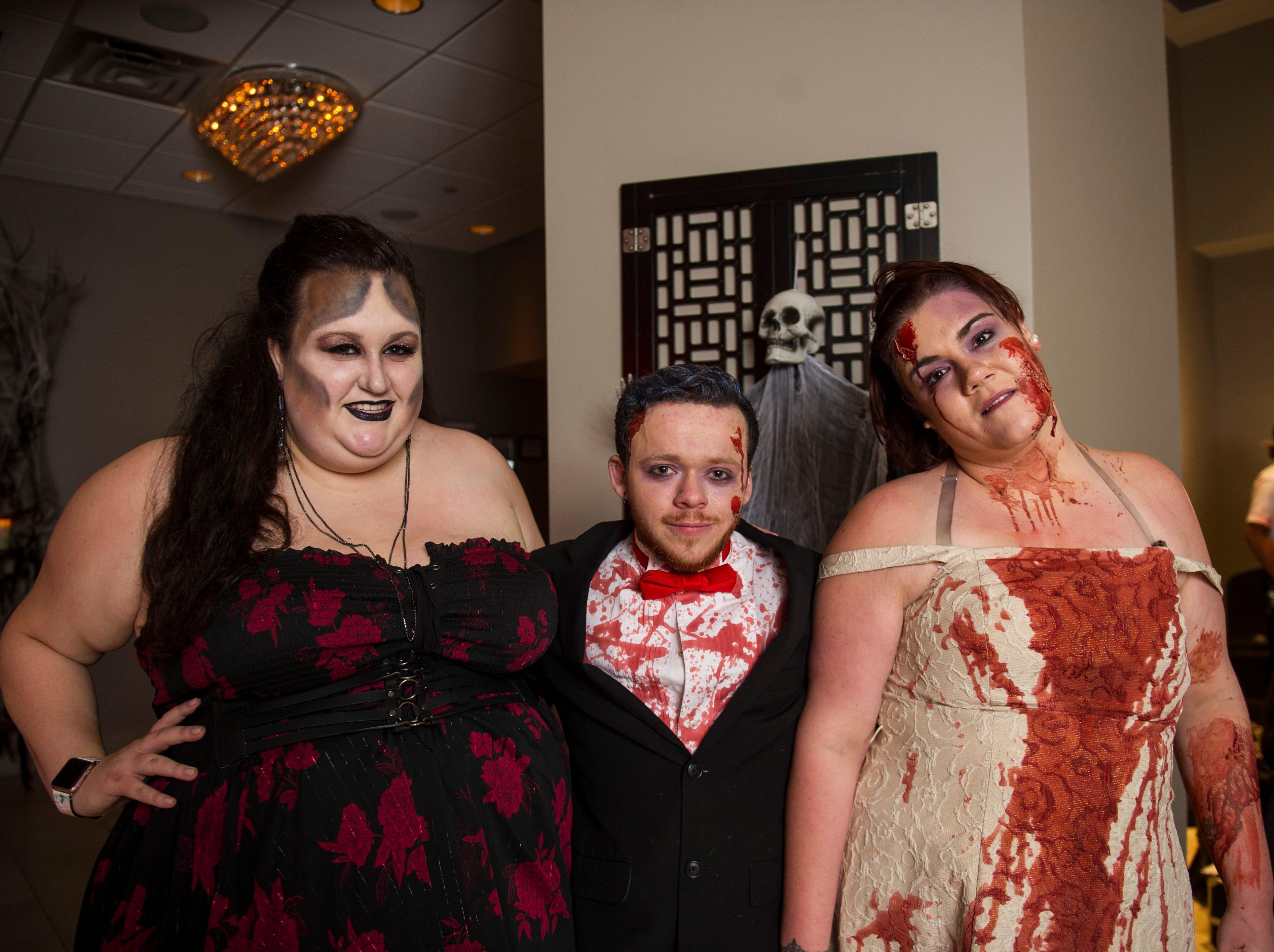 Katie Anderson, Kayden Boyett, Amanda Cruz at the Zombie Prom on Saturday, Oct. 20, 2018.