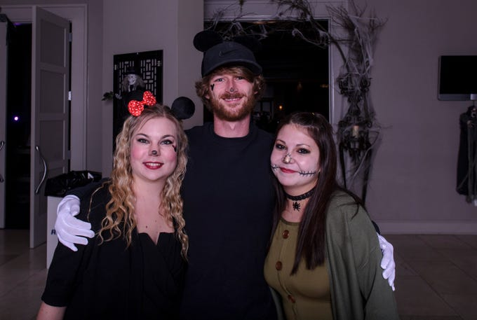 April Hayni, Bryan Gamble, and Amber Haynie at the Zombie Prom on Saturday, Oct. 20, 2018.