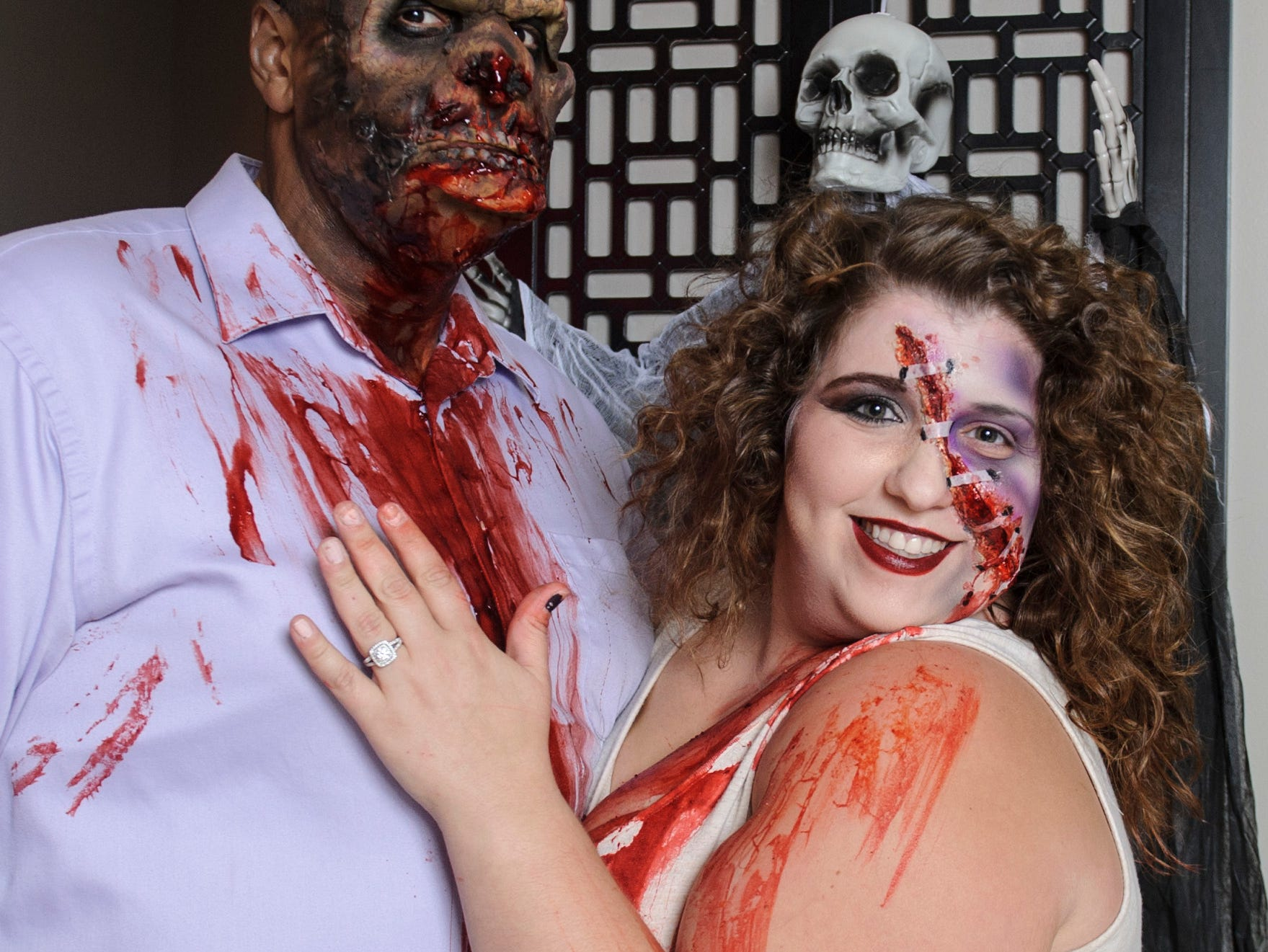 Andrew Woods and Laura Braslow at the Zombie Prom on Saturday, Oct. 20, 2018.