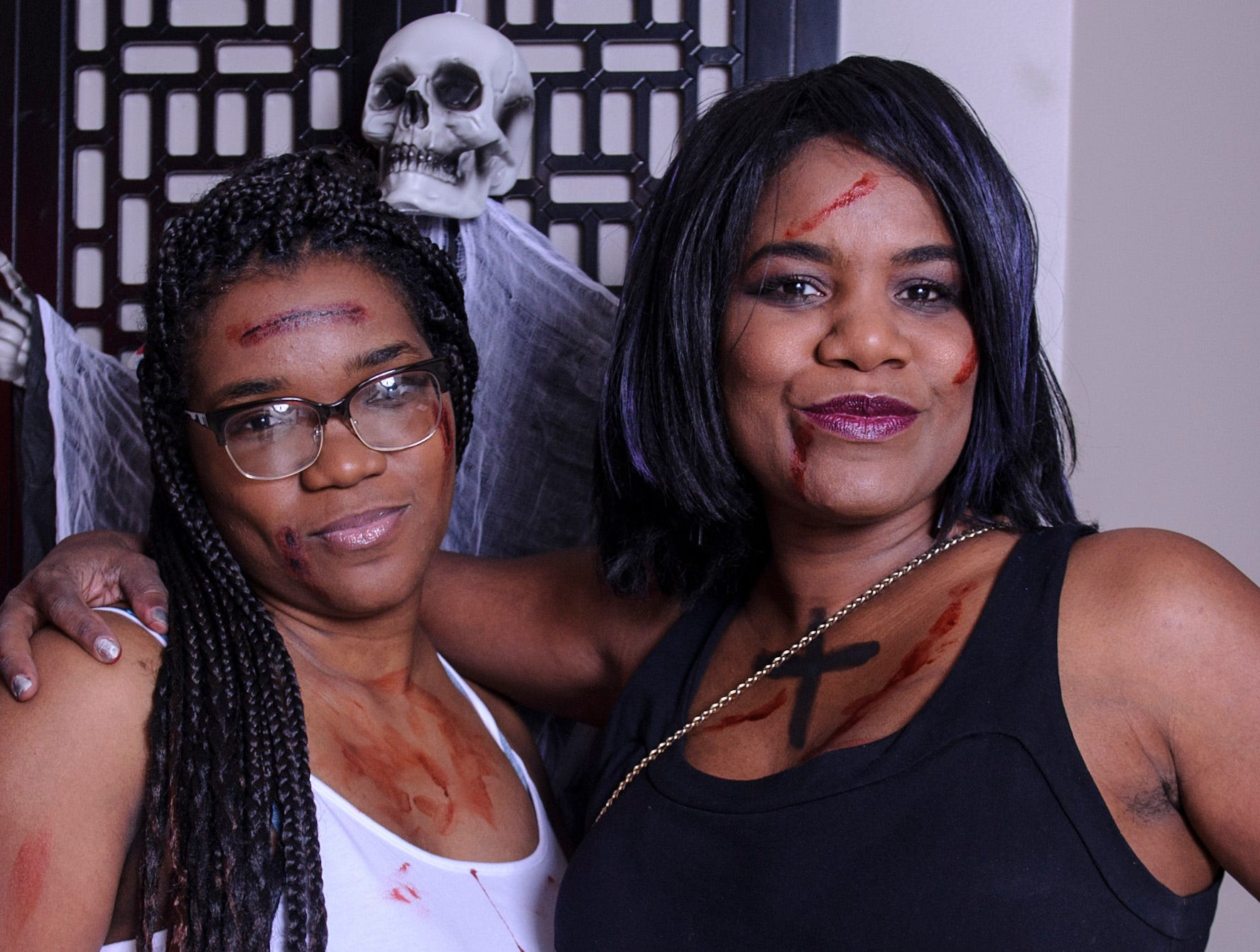 Ashley Simmions and Loralie Mitchell at the Zombie Prom on Saturday, Oct. 20, 2018.