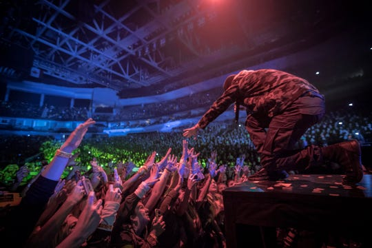 Twenty One Pilots performs at a sold-out Fiserv Forum on Oct. 20, 2018.