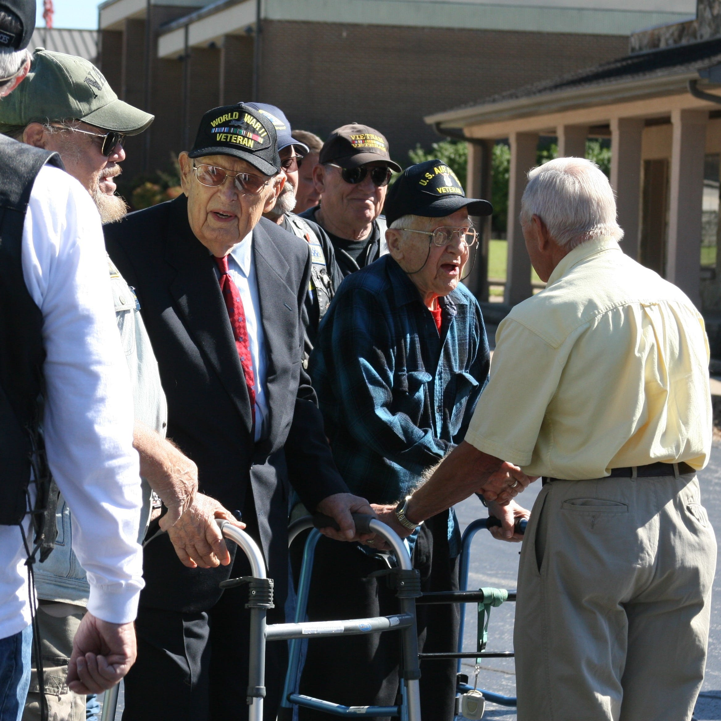 World War II veterans honored at surprise birthday party by Mountain Home community