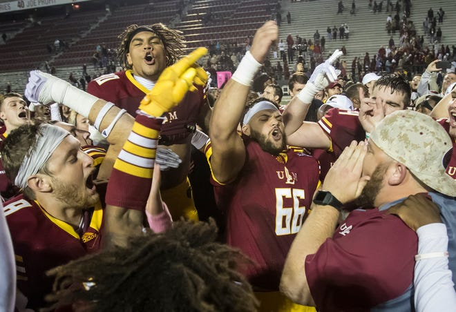 ULM defeats Texas State in their homecoming game 20-14 at Malone Stadium in Monroe, La. on Oct. 20.