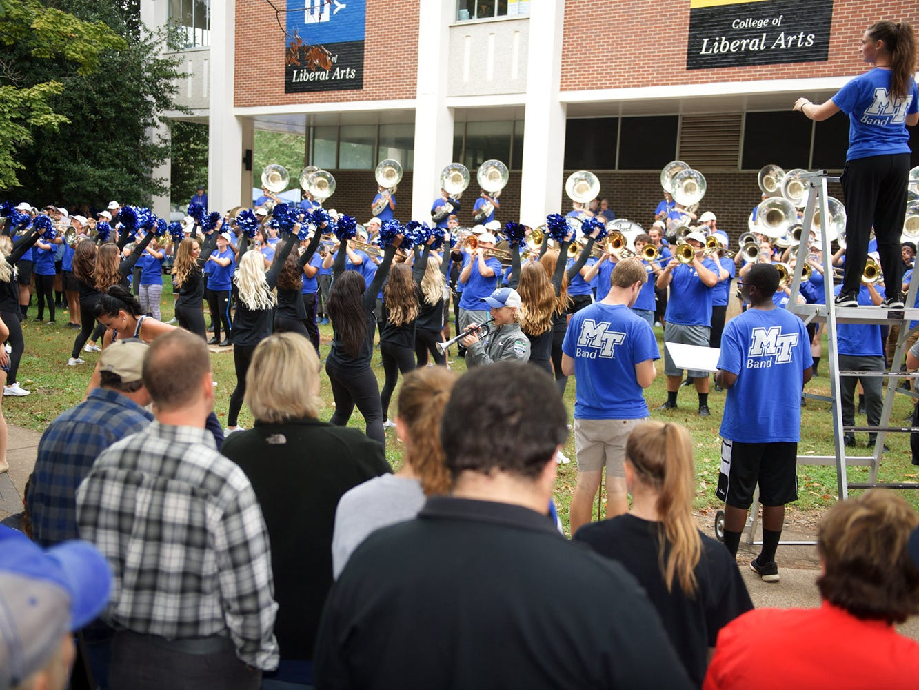 Tailgating in The Grove during MTSU's Homecoming celebration on Oct. 20, 2018.