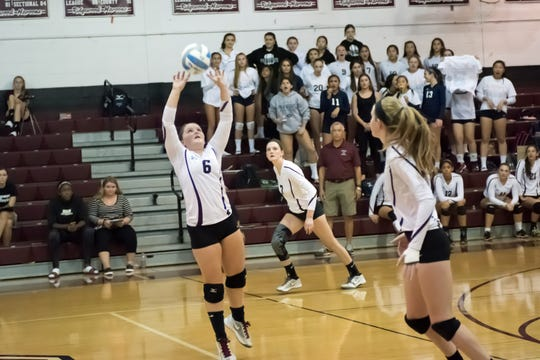 Ridgewood's Mary Kate Salamone (6), shown in a 2016 photo, is a three-year starter at setter.