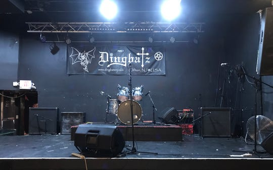 The stage inside Dingbatz in Clifton, as seen Oct. 21, 2018.