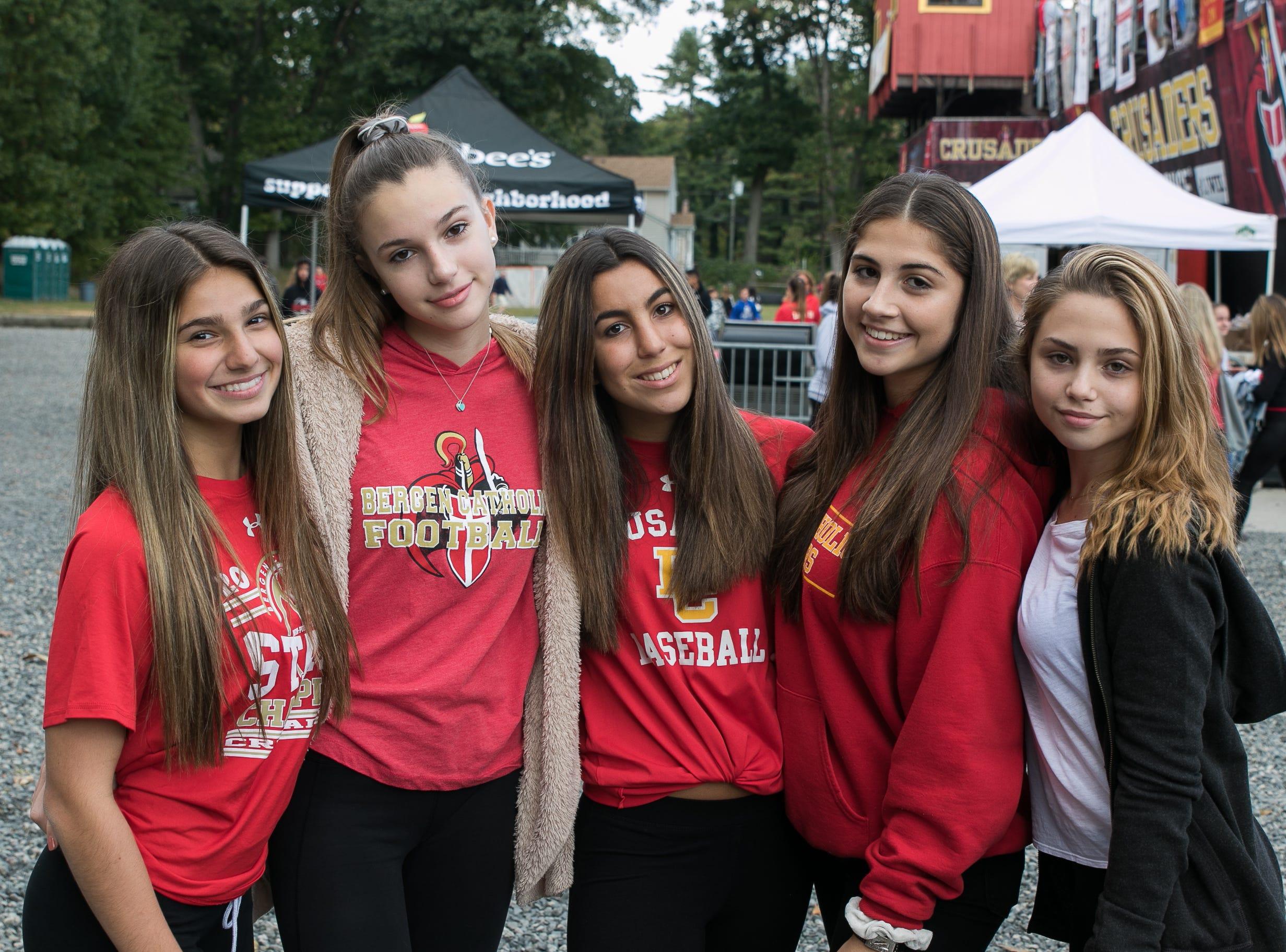 Fans at the Bergen Catholicl verses Paramus Catholic High School Football game held at Bergen Catholic High School. 10/20/2018