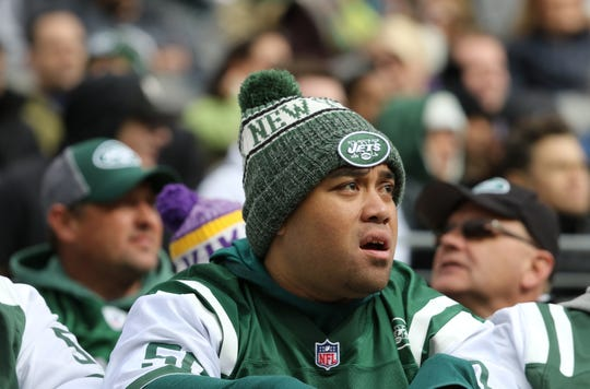 Jets fans were disappointed with their teams' 37-17 loss, Sunday, October 21, 2018.