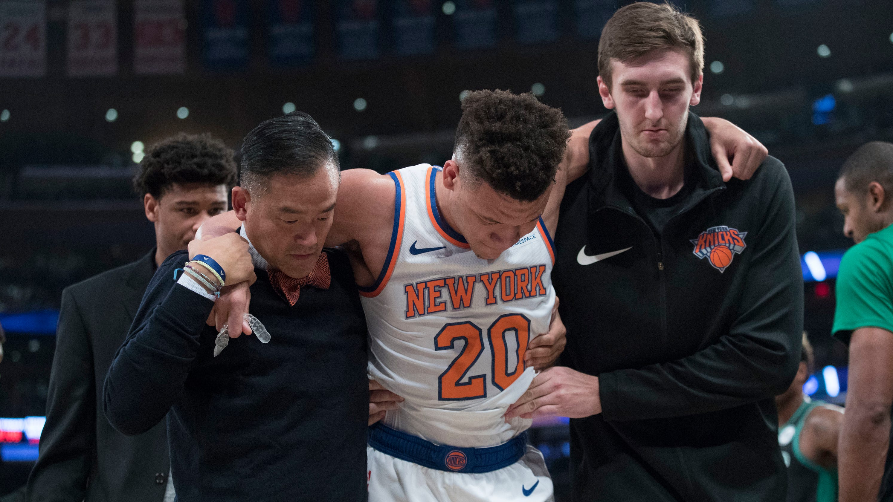 New York Knicks  rookie Kevin Knox getting quick look at  roller coaster   of NBA 2d95518a7