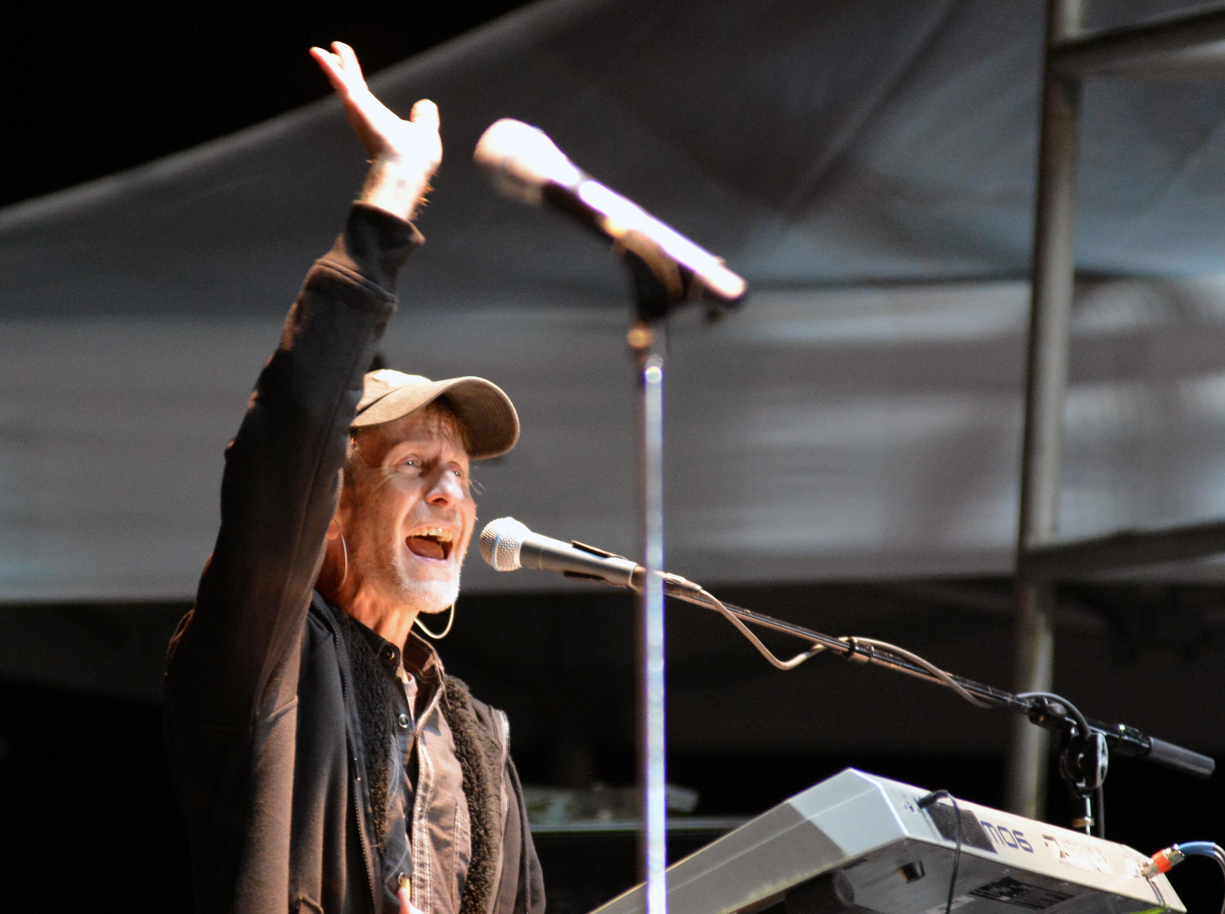 Keyboardist Greg Hubbard, of Sawyer Brown, performs on the Main Stage at the Las Cruces Country Music Festival on Saturday, Oct. 20, 2018.
