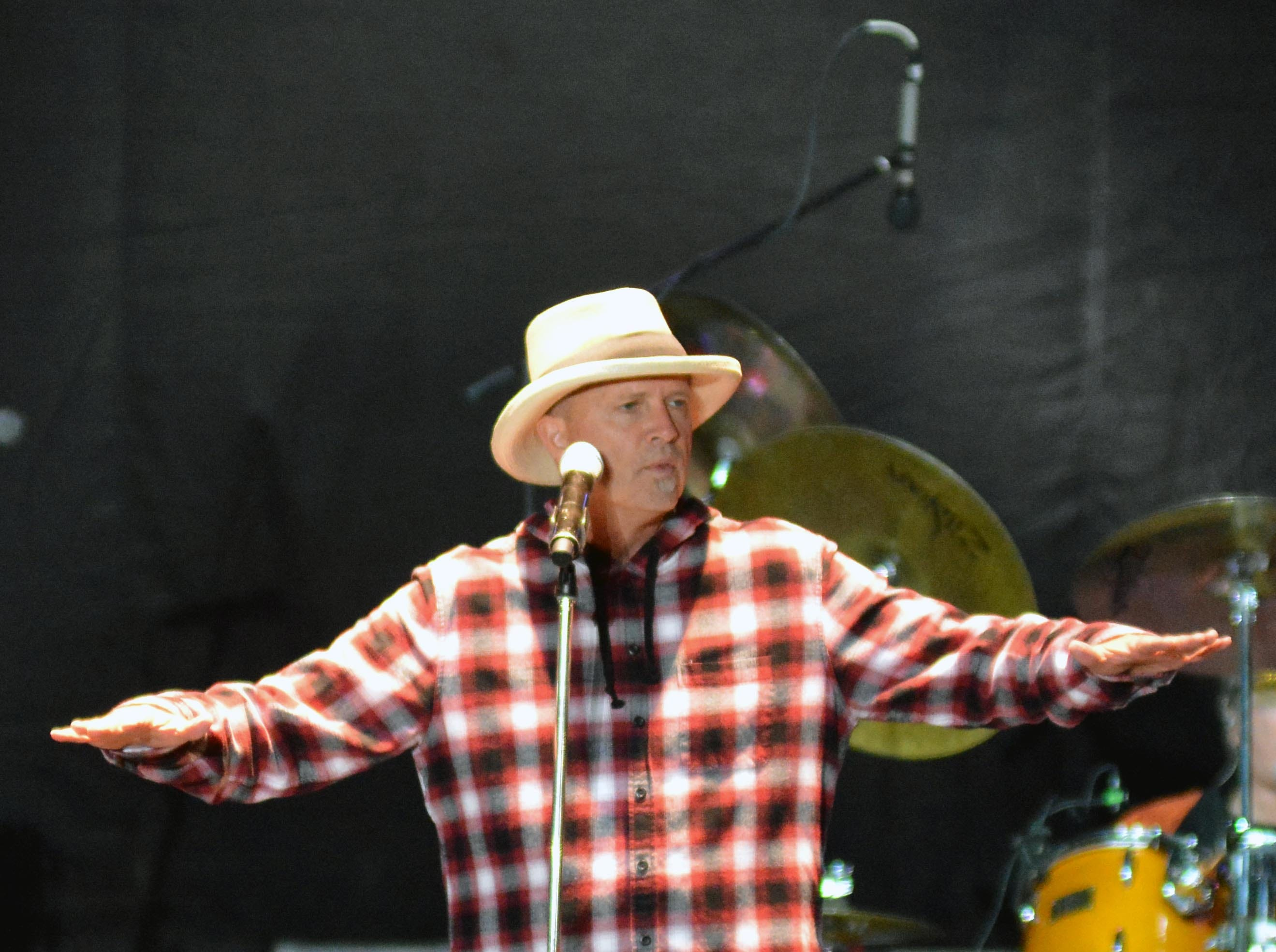 Lead singer Mark Miller, of Sawyer Brown, performs on the Main Stage at the Las Cruces Country Music Festival on Saturday, Oct. 20, 2018.